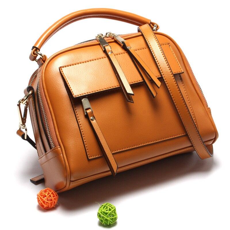 100% Genuine Leather Women Shoulder Bags Real Cowhide  Famous Brand Designer Handbags High Quality Tote Shoulder Messenger Bags футболка в полоску с круглым вырезом
