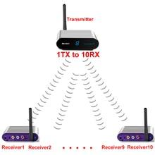 measy av550 500m 5.8G Wireless AV Swtich RCA Audio Video Transmitter Receiver Sender IR Extended For STB DVD Satellite IPTV