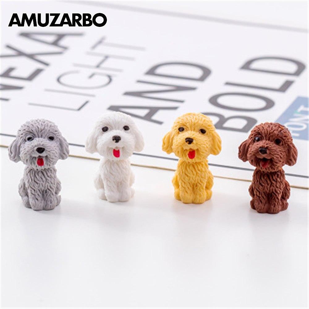 Kawaii Cartoon Eraser Teddy Dog Owl Rabbit Dinosaur Fox Deer Cute Shapes Toys Eraser Kids Gift Novelty School Stationery 1pcs