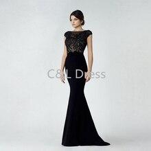 Schwarz Flügelärmeln Mermaid Abendkleider Lange 2016 Sexy Erstaunlich Prom Kleider Kundenspezifische Neue Design Formale Abendkleider