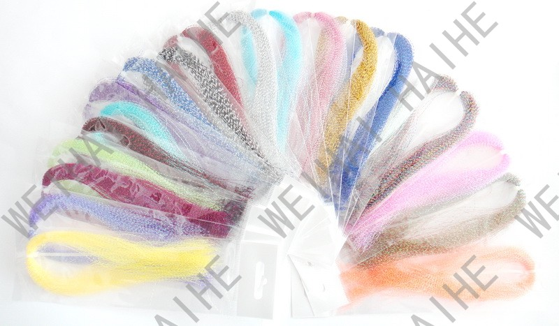 20 different color CRYSTAL HOLOGRAPHIC FLASHABOU - krystal, tinsel,crystal flash for fly tying Materials