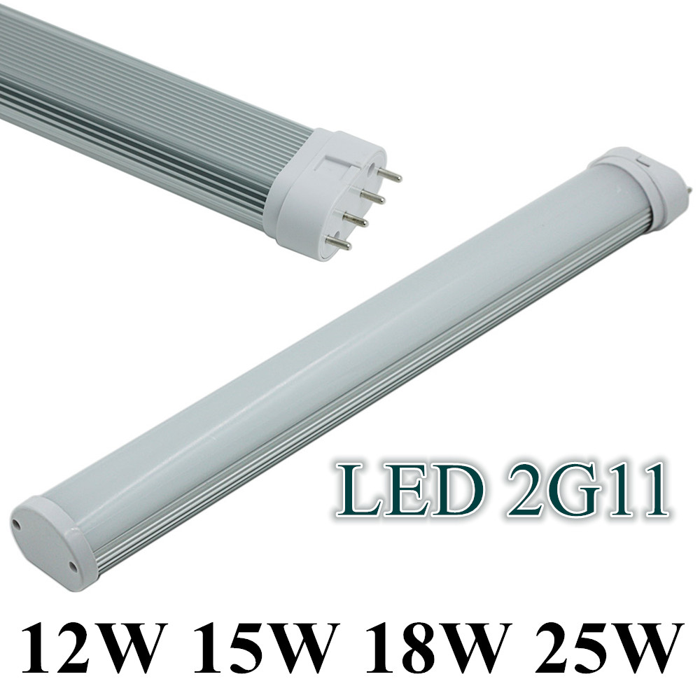 WholeSale (20pcs/Lot) LED Tube 4Pin Linestra Lamp 2G11 Light 12W 15W 18W 25W 110V 220V 230mm 325mm 415mm 540mm replace halogen led tube 4pin linestra 2g11 dimmable lamp pll lamp pl bar 9w 12w 16w 22w 110v 220v 225mm 320mm 415mm 540mm replace halogen