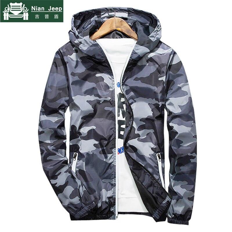 Бренд 2018 осень куртка с капюшоном Для мужчин тонкий камуфляж куртка в стиле милитари мужской плюс Размеры M-3XL быстросохнущая Для мужчин вет...