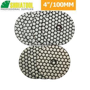 Image 2 - SHDIATOOL 10sets (7pcs/set) Dia100mm/4inches Dry Diamond Polishing Pads 70pcs Resin Bond Diamond Flexible Sanding Disk