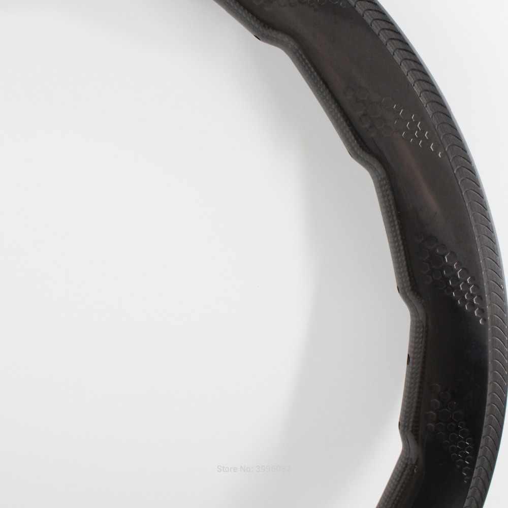 Plus récent 700C 454 58mm moonscape vélo de route pleine fibre de carbone vélo alvéolé roues carbone pneu tubulaire jantes ondulé livraison gratuite