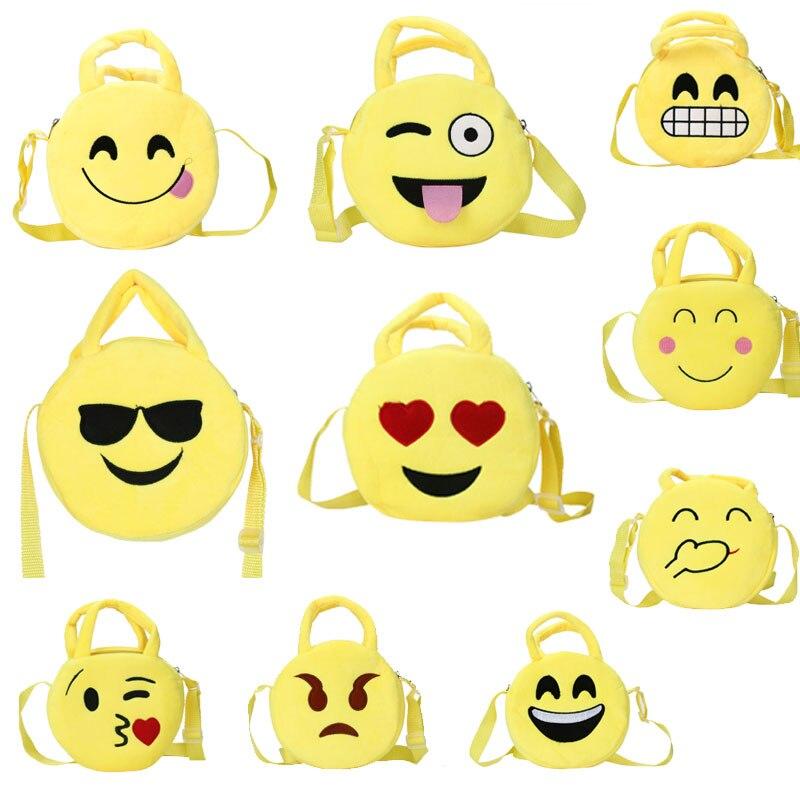 Curewe 2017 Kerien Fashion Cute Emoji Emoticon Shoulder School Child Bag Satchel Rucksack Handbag Mini Crossbody Chain Handbags