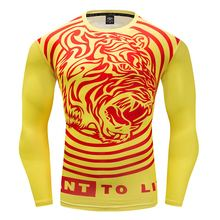 Men Quick Dry  Long Sleeve T Shirts  Compression Shirt  Men 3D Printed T-shirts Bodybuilding Fitness Clothing