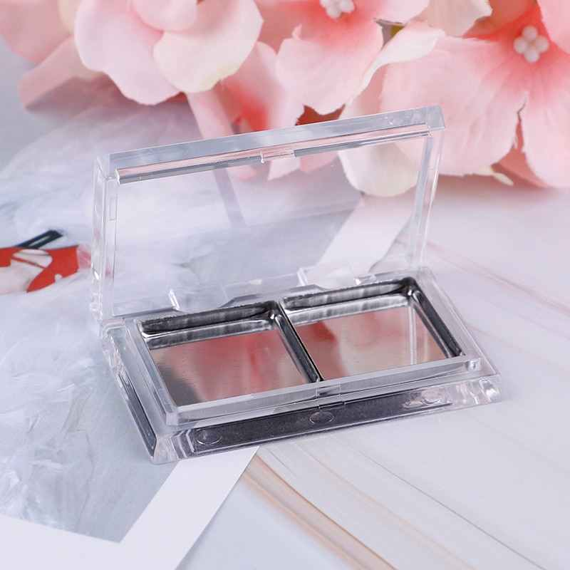 Kosong Magnetic Case Eyeshadow Pigmen Stainless Steel Palet Panci Makeup Makeup Eye Shadow Pigmen Palet Case
