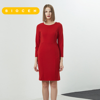 Biocen Vfemage Womens Autumn Winter Elegant Patchwork Slim Sweet Work Business Office Party Fitted Bodycon Pencil