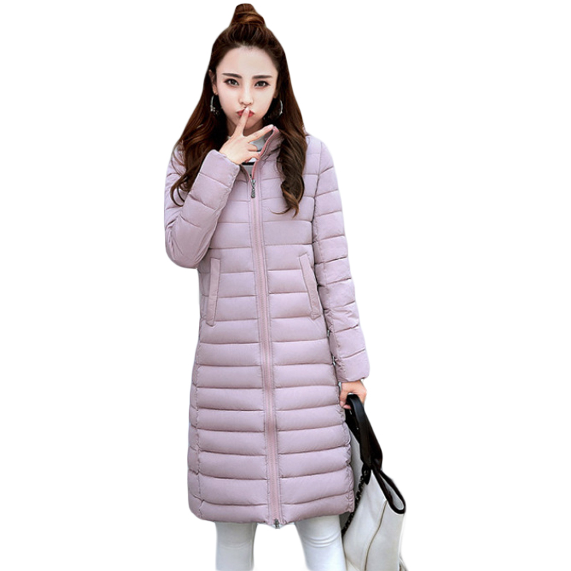 Plus Size 3XL Ladies New Fashion Winter Coats 2017 Casual Parkas Mujer Outwear Female Hooded Cotton-padded Medium Jackets CM1754 winter women jacket 2017 new fashion parkas mujer women thick padded cotton long coats female abrigos mujer plus size outwear