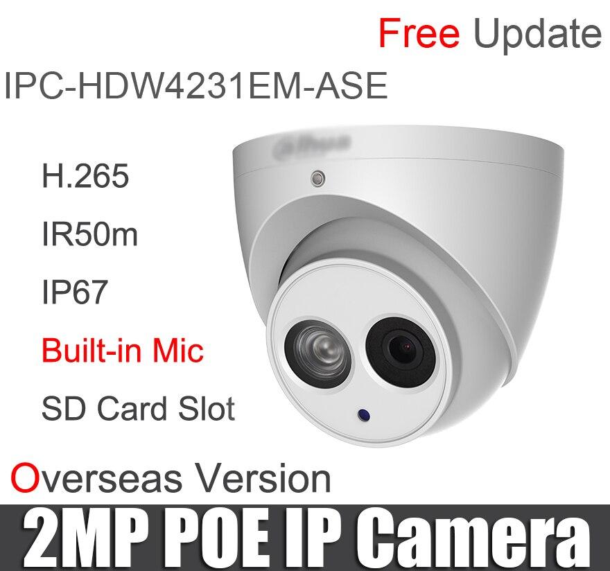 Original IPC HDW4231EM ASE 2mp IP Camera Built in Mic Starlight IR Eyeball Network replace IPC