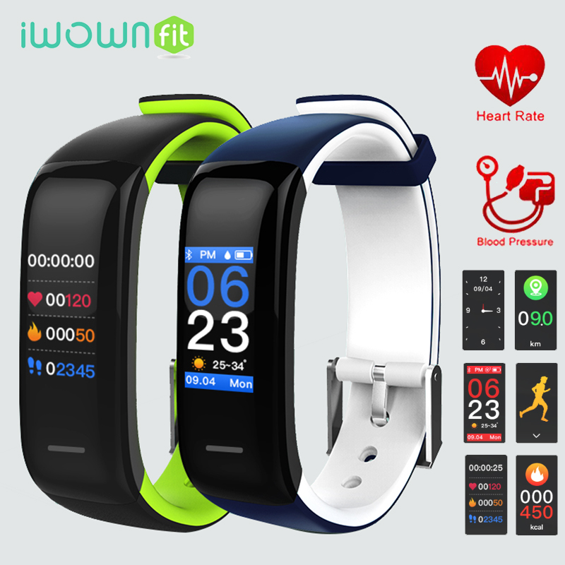 iWOWNfit P1 Plus Smart Wristbands 3 Fitness Bracelet Blood Pressure Heart Rate Fitness Tracker Band for Xiaomi Mi Amazfit Cor
