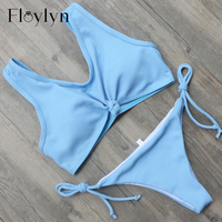 Floylyn Bikini 2017 Hot Swimwear Women Swimsuit Top Low Waist Bikini Female Bathing Suit Brazilian Biquini