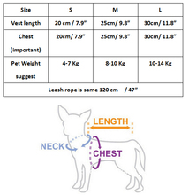 Cat Dog Harness Vest with Leash