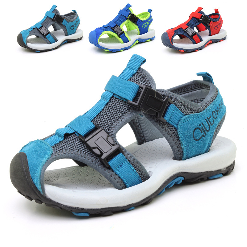 Boys Sandals Summer New Style Children Shoes Girls Fashion Cut-outs Sandals Kids Sandals Breathable Flats Shoes