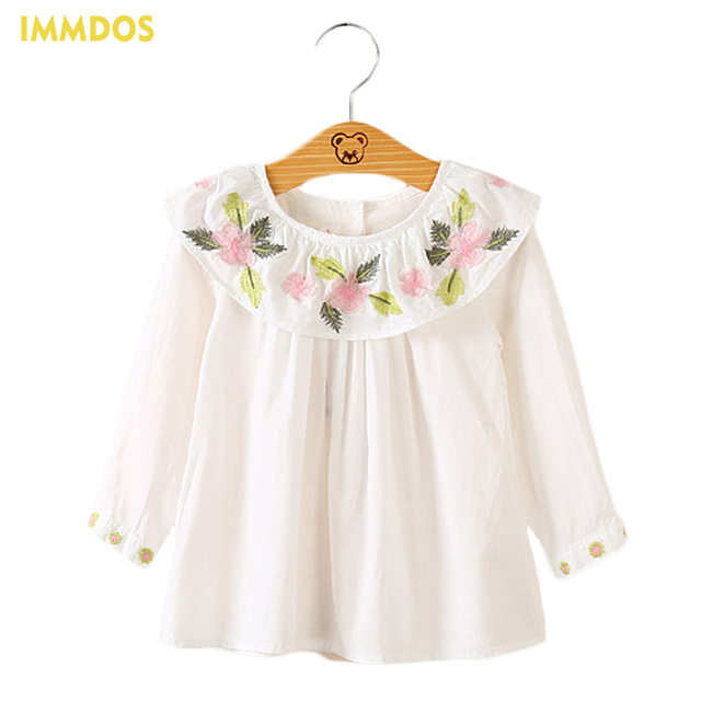Women Long Sleeve Embroidered Shirts White Hollow Mesh Yarn Patchwork  Blouse Women's Casual Tops Autumn Ladies