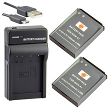 DSTE 2pcs A1 Li-ion Battery + UDC102 usb charger for ISAW A1 A2 A3 ACE Advance Extreme HD Action Camera