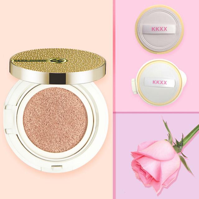 Kkxx natural hidratante ir cojín cc crema maquillaje corrector base sólida de genuino de larga duración crema bb para la belleza