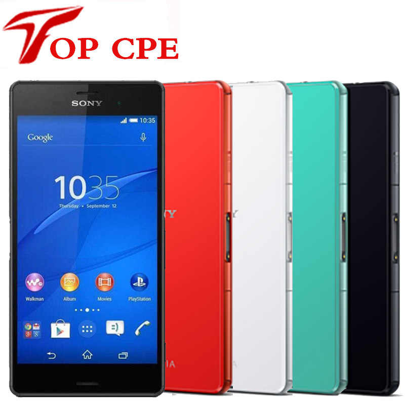 هاتف ذكي أصلي من سوني إكسبريا Z3 مدمج d580 3 مفتوح 4G LTE Z3 صغير بنظام أندرويد رباعي النواة بشاشة 4.6 بوصة وذاكرة 16 جيجابايت مزود بخاصية WIFI ونظام تحديد المواقع