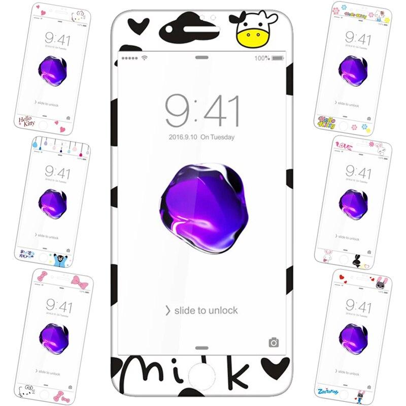 Une couverture complète De Protection En Verre Sur Le iPhone 7 Plus 3D Fiber trempé Protecteur D'écran En Verre Couleur Avant film Pour iPhone 7 En Verre