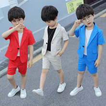 цена на Summer Boys Suits For Weddings Clothing Teen Clothes Boy Suits Formal Boys Blazer Children Suit Fortnight Party Costume Garcon