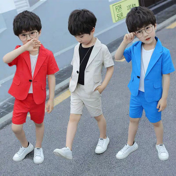 Summer Boys Suits For Weddings Clothing Teen Clothes Boy Formal Blazer Children Suit Fortnight Party Costume Garcon