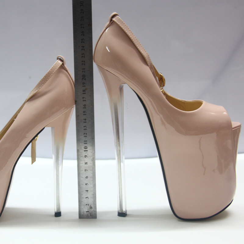 Femme 16cm black black Sexy Pompes Mc 34 Grande forme Hauts pink Chaussures Mince Cm Dames Mariage 71 43 Ouverts Plate Soirée De Talons 19cm 19cm Taille Pour 19cm Pink 22cm pink 16 22cm 22cm OUAwxFBq4