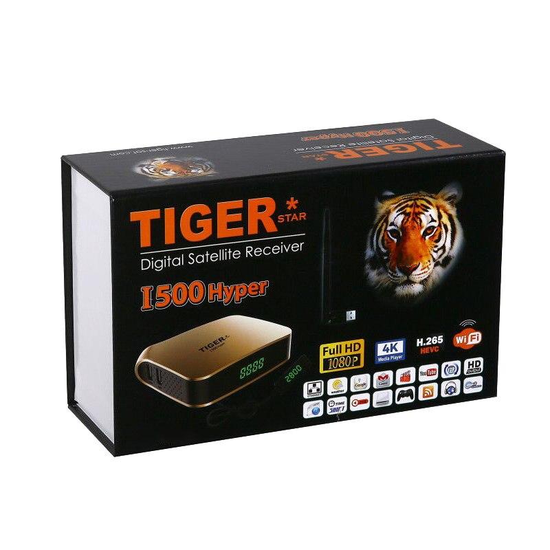 Tigre i500hiper receptor satelital soporte árabe IPTV suscripción 4K pantalla HD receptor de TV Digital por satélite DVBS2 sintonizador FTA - 6