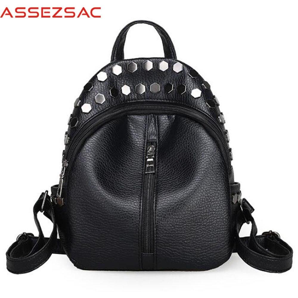 Assez sac 2018 backpacks women travel bags school backpack pu leather bag feminina ladies casual backpack bolsas top-handle