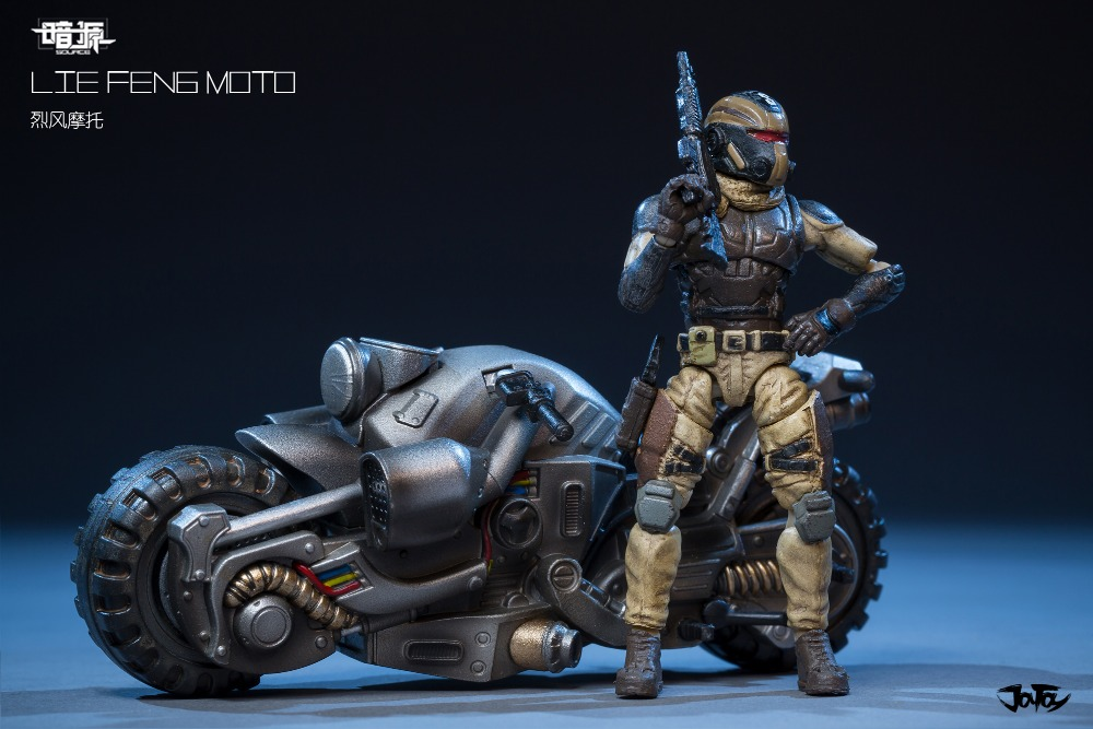 1 25 JOYTOY action figure and motorcycle military model toys for kids motorbike limited edition in Action Toy Figures from Toys Hobbies