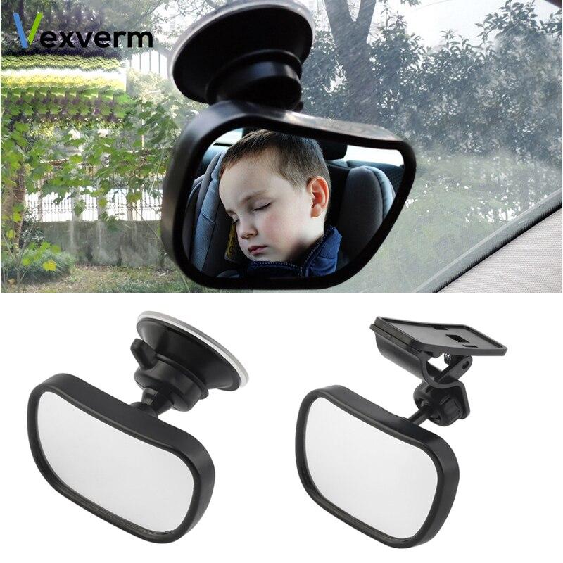 Vexverm Mini Sicherheit Auto Zurück Sitz Baby Ansicht Spiegel Einstellbar 2 In 1 Baby Hinten Konvexen Spiegel Auto Baby Kinder Monitor Grade Produkte Nach QualitäT