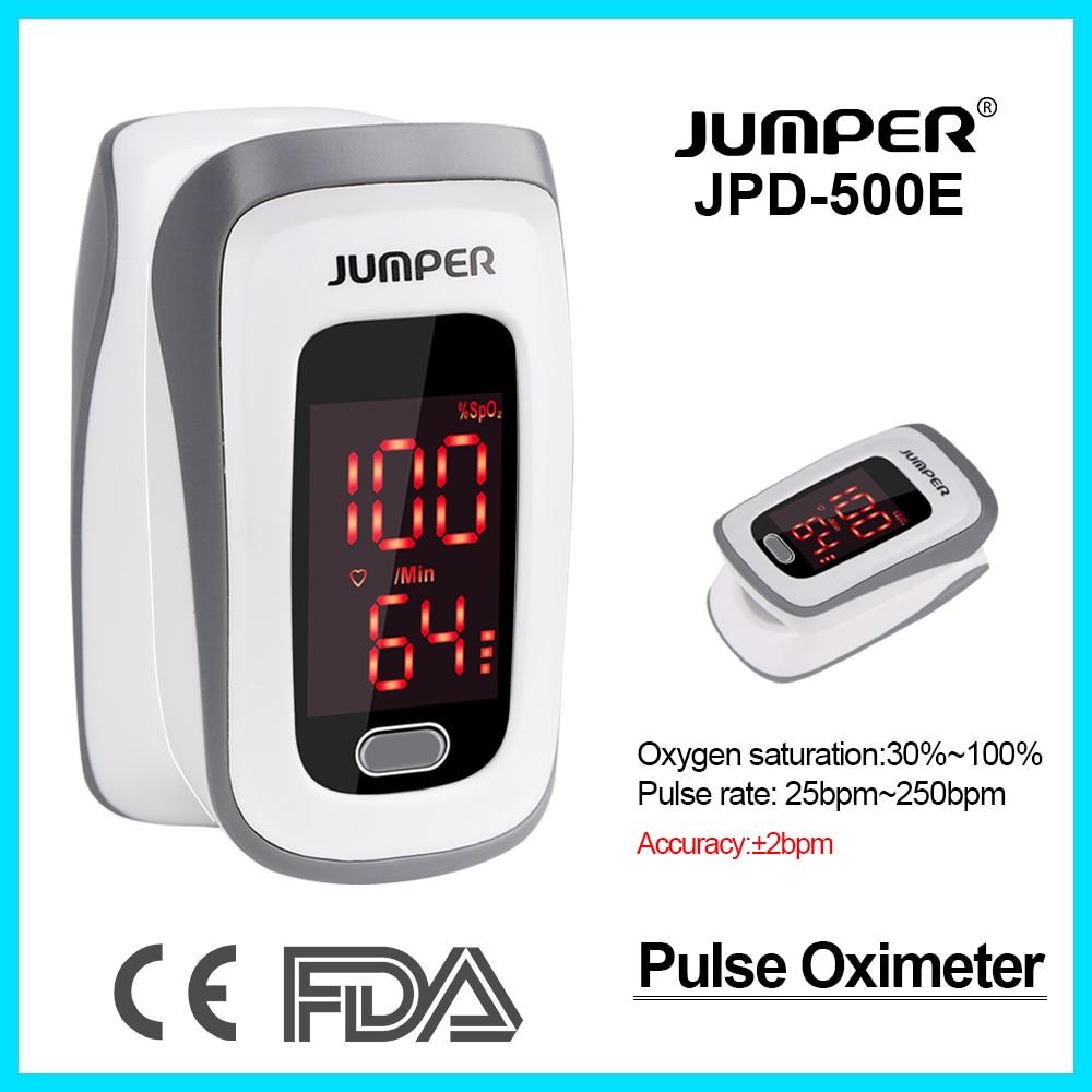 Jumper Neue Design Fingertip Pulsoximeter Rate Tragbare Blutdruck Gesundheit Pflege CE FDA LED Sauerstoff Sättigung JPD-500E