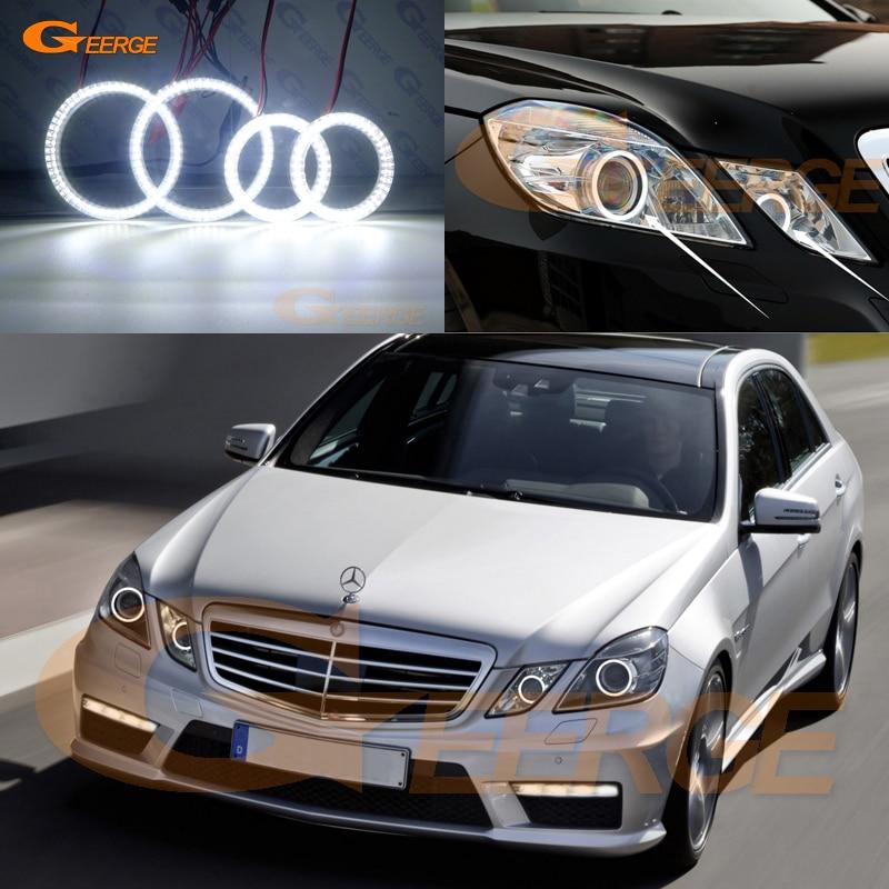 цена на For Mercedes-Benz E-Class W212 E350 E550 E63 AMG 2010-2013 Xenon headlight Ultra bright smd led Angel Eyes kit DRL