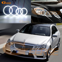 For Mercedes Benz E Class W212 E350 E550 E63 AMG 2010 2013 Xenon headlight Ultra bright smd led Angel Eyes kit DRL