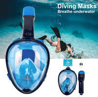 2019 New color Full Face Snorkeling Masks 180 View Anti-fog Anti-Leak Snorkel Scuba swimming mask Underwater Diving Mask