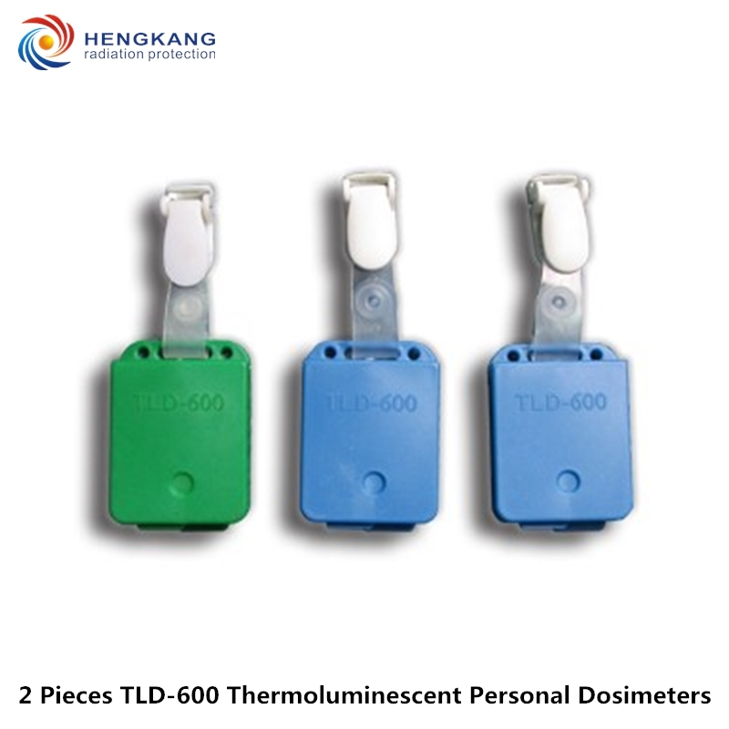 Free Shipping 2 Pieces TLD-600 Personal Thermoluminescent Dosimeters Radiological Nuclear Radiation Cumulative Dosimeter
