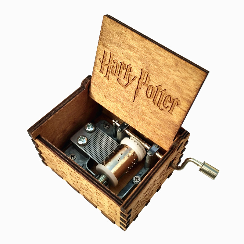 Harry Potter Star Wars Beauty and the beast Wooden Music Box gift for Chirstmas happy birthday new year gift children gift