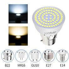 GU10 Led 220V lámpara E14 ampolla bombillas led E27 Lampada led Bombilla 2835 proyector MR16 luz del punto 4W 6W 8W GU5.3 LUZ DE MAÍZ 240V