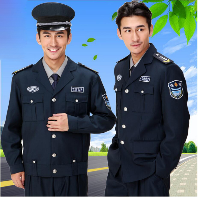71b41aeb20972 New security service work Autumn Winter clothing Residential security  uniforms guard security service hotel property Outfit set