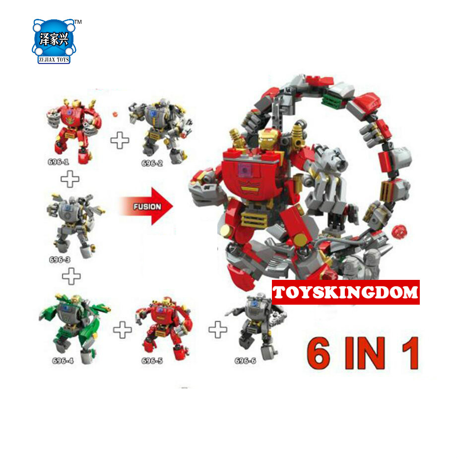 Hot Super Heroes Avenger Ironmans 6in1 Mech Building Block Mk1 War Machine Mk37 Lepins Figures Bricks Toys Collection for Boys цена