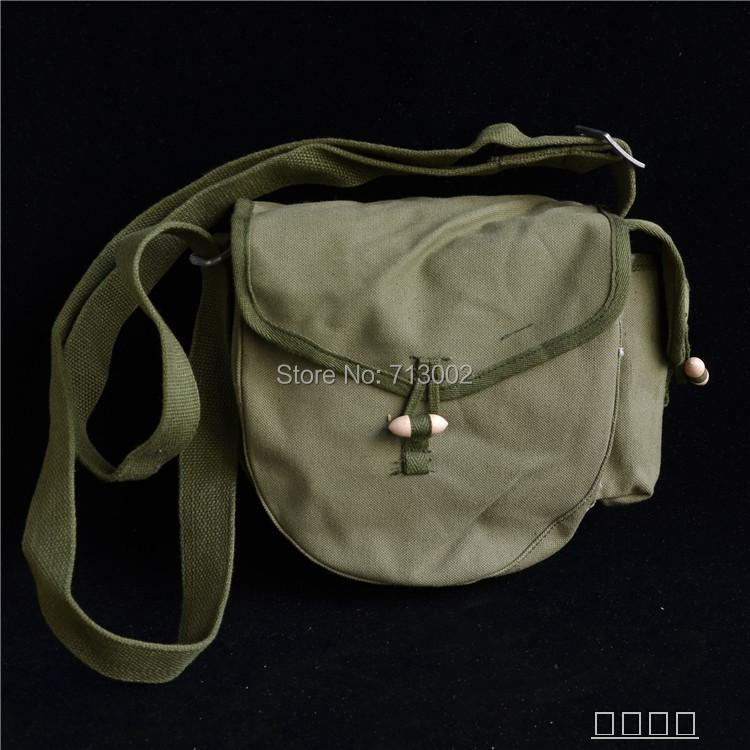 Surplus Military bag army green canvas bag Soldier Shoulder bag With stamp(China)
