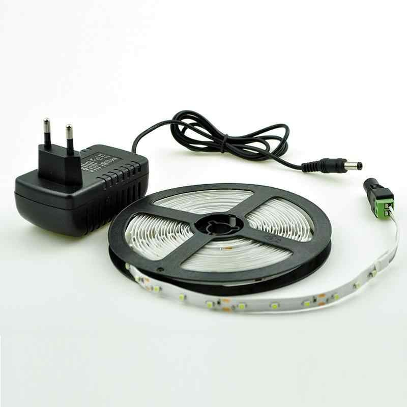 Taśma LED RGB 5 M 300Led 3528 SMD 24Key pilot zdalnego sterowania na podczerwień 12 V 2A zasilacz elastyczne światło taśmy Led lampy do dekoracji domu