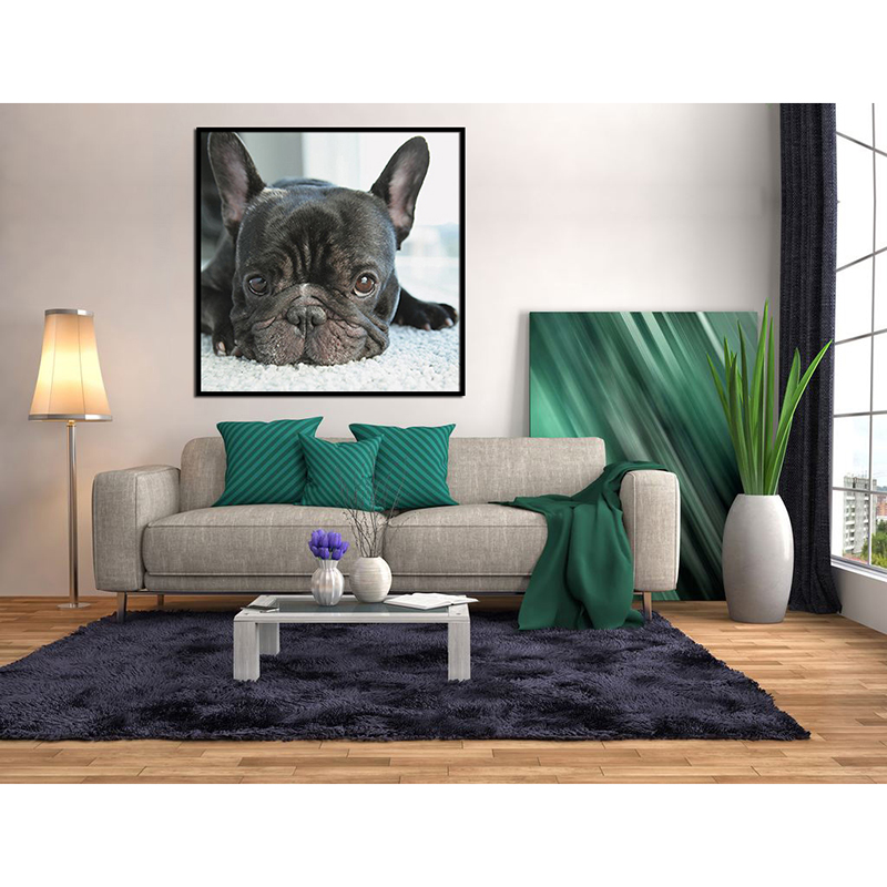 5D Diy Diamond Painting Cross Stitch small black dog heads full Diamond Embroidery french bulldog round Diamond Mosaic puppy in Diamond Painting Cross Stitch from Home Garden