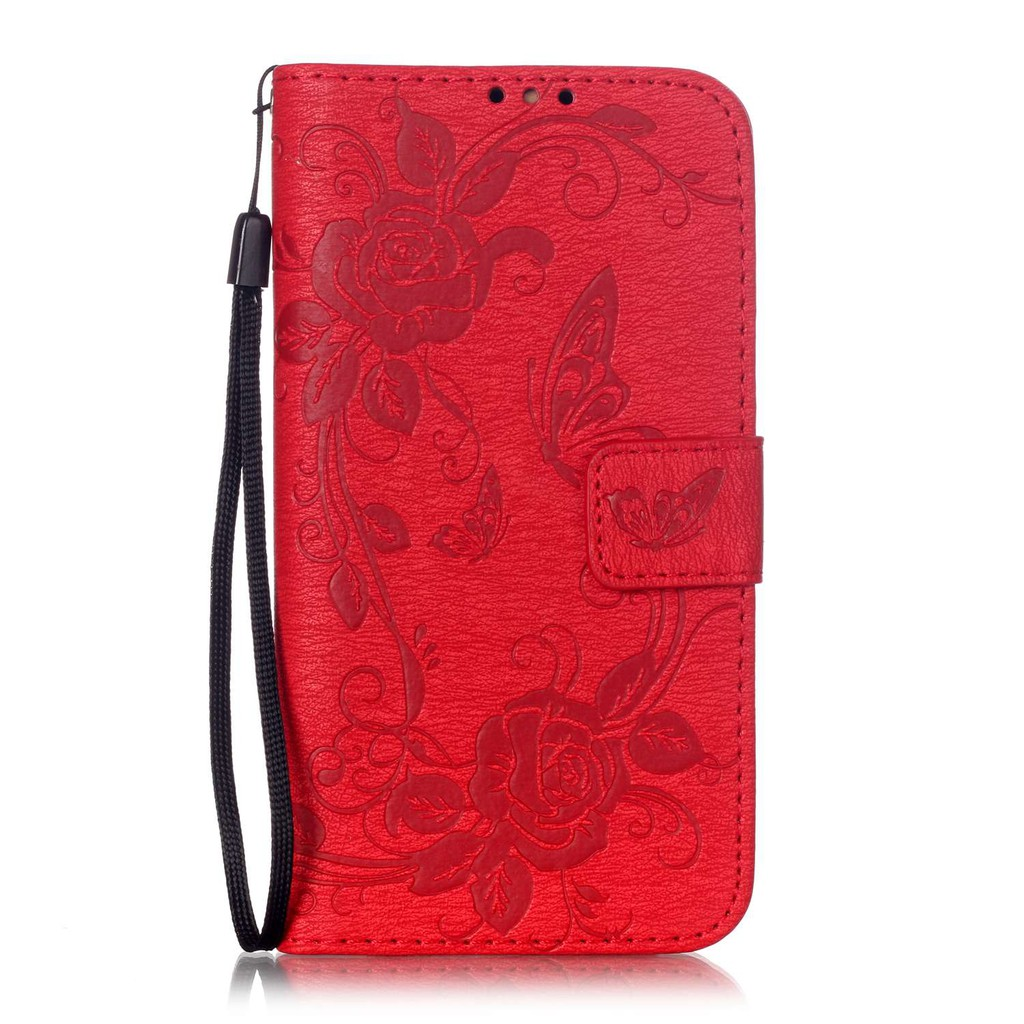 YUANLONG Phone Case For Samsung Galaxy J3 2016 J320 J310 J310F Emboss Butterfly Flip Wallet Leather Cover Shell