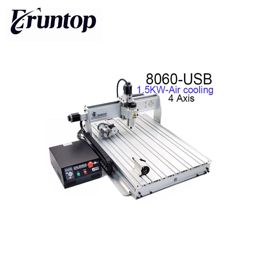 Newest 110/220VAC 4 Axis 1500W 8060Z USB MACH3 CNC Router Engraver Engraving Milling Drilling Cutting Machine russain no tax wood acrylic 500w cnc router engraver engraving milling drilling cutting machine cnc 3040 usb port