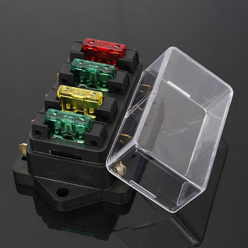 12v 1 x 4 way blade fuse box holder 4 way fuse box dc 12v 24v max dc 30v car truck auto blade fuse box  dc 12v 24v max dc 30v car truck auto