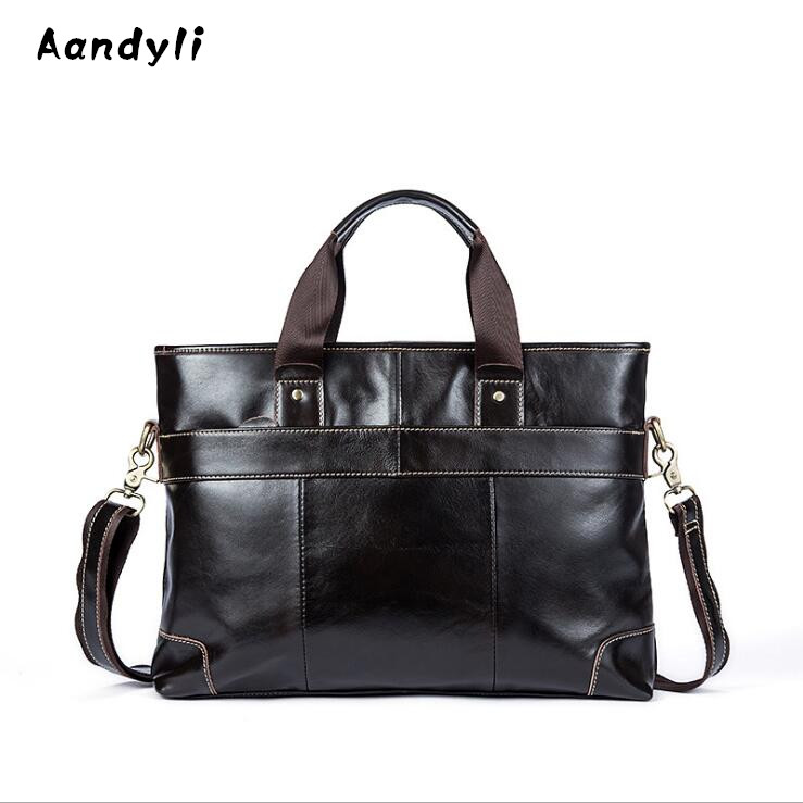 Business Genuine leather Handbags Men Crossbody Bag Designer Men's single shoulder bag large capacity bags