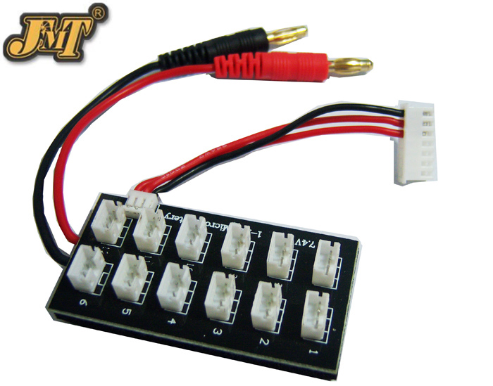 JMT 1 To 12 Cells 7.4V 2S Battery Parallel Charge Board For RC helicopter Airplane Lipo battery AKKU JST