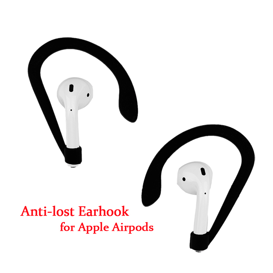 Silicone Anti Slip Ear Hook untuk Apple Airpods Nirkabel Bluetooth Earphone Earbud Holder Untuk Air Pods Aksesoris