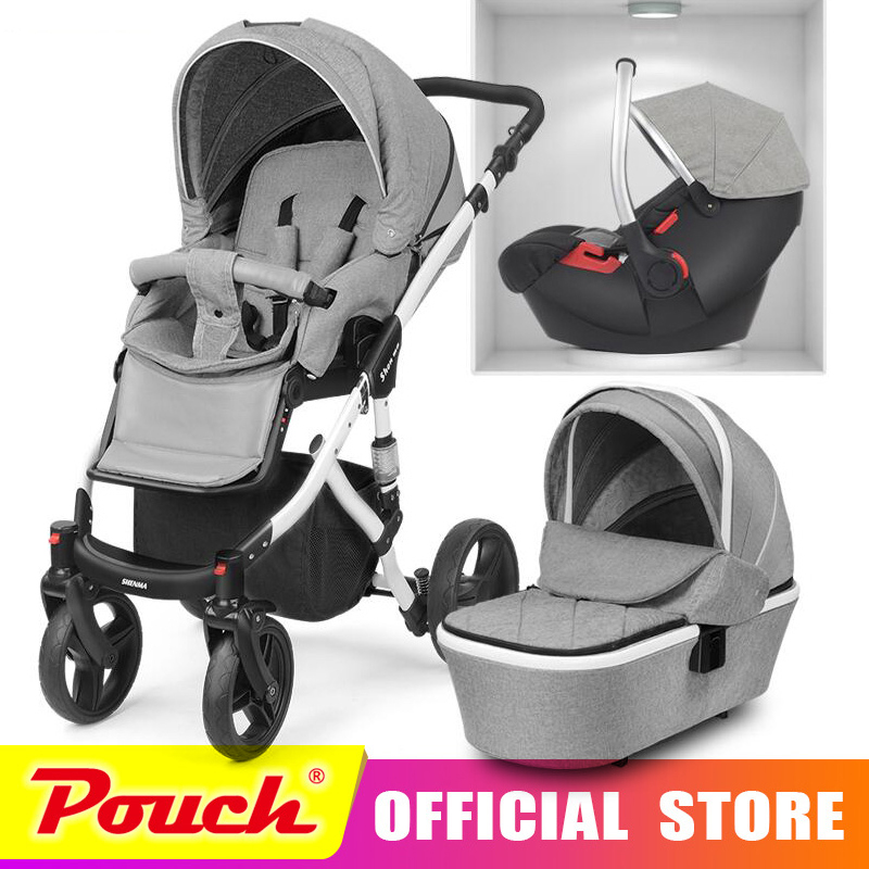 2018 new baby stroller 2 in 1 3 in 1 high landscape stroller Free shipping in Russia все цены